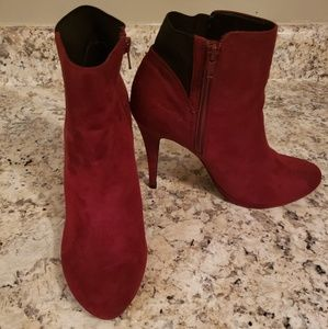 Thalia Sodi Briea Burgandy Ankle Boots